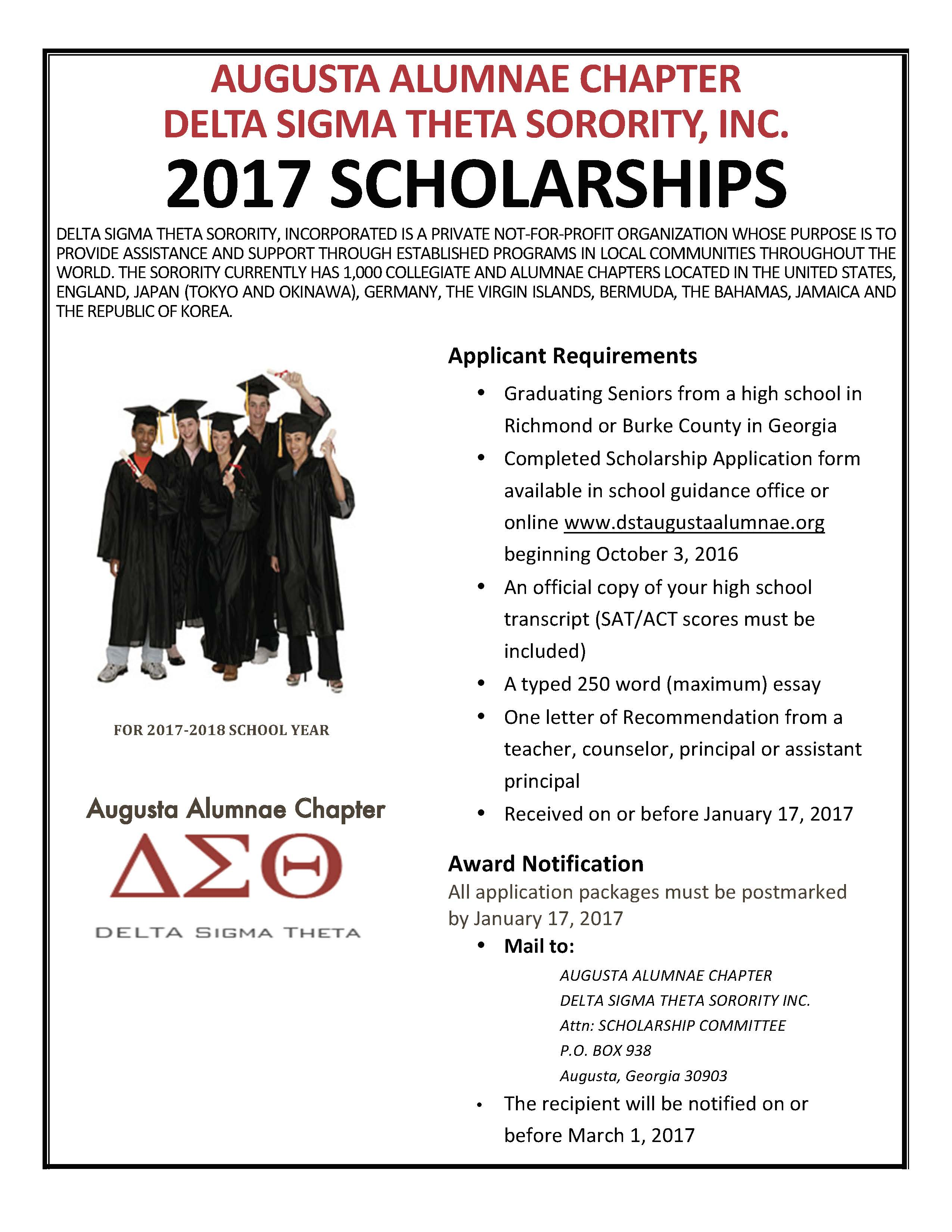 AAC Delta Sigma Theta Scholarship Applications are Available