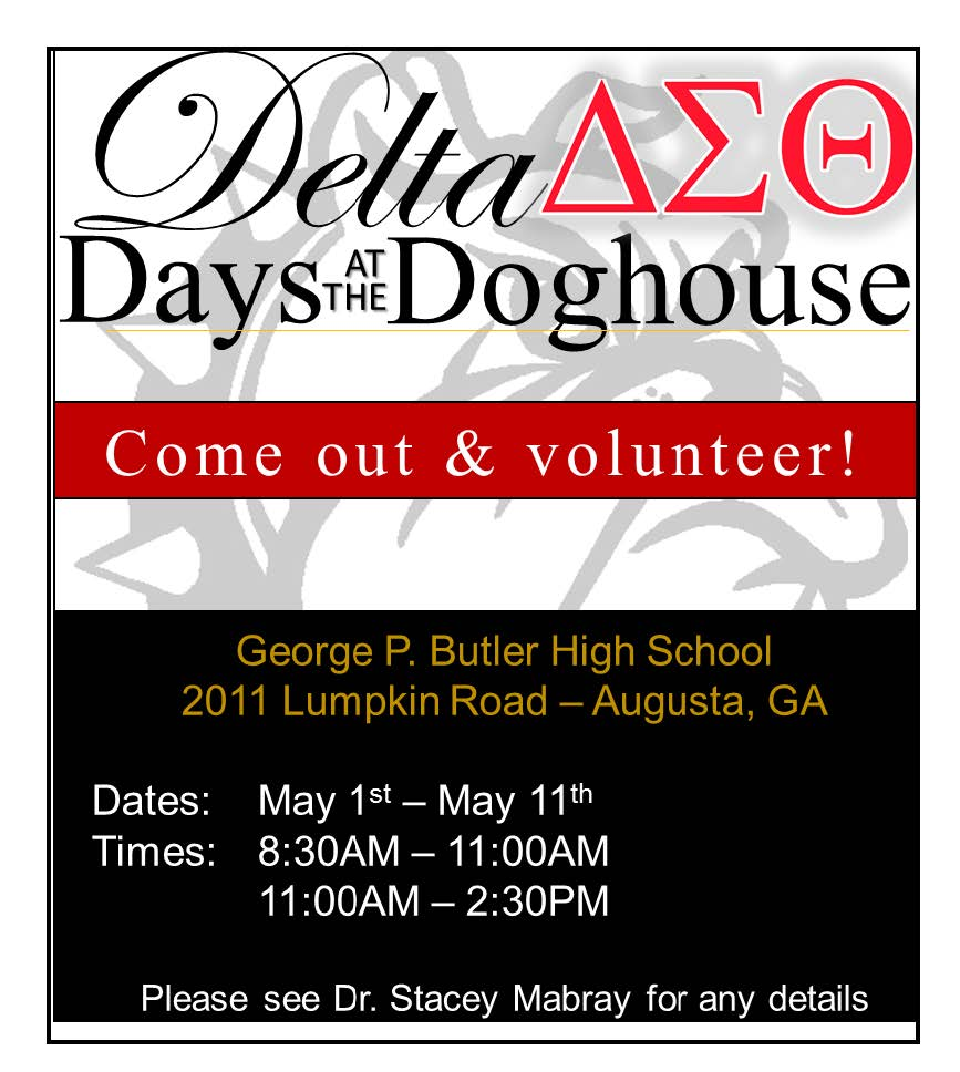 Delta Days at the Doghouse @ Butler High School | Augusta | Georgia | United States