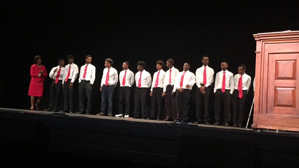 The young men of EMBODI who served as ushers at Jabberwock 2015.