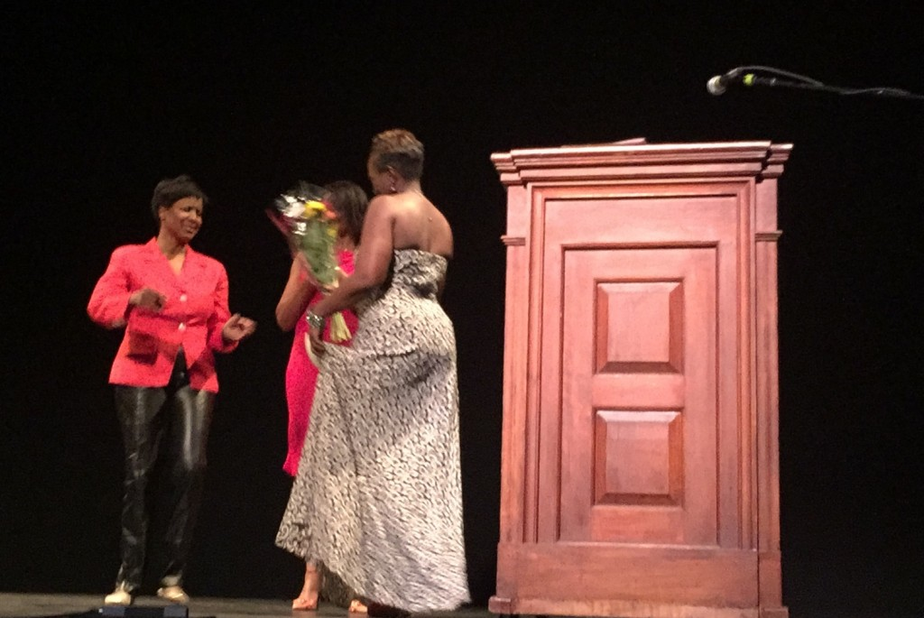 Recognition given to the 2015 Jabberwock Organizer, Tracy Harmon (AAC Member) during the event.