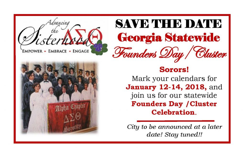 GA Statewide Founders Day/Cluster @ TBA